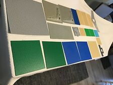Vintage Lego Base Plate Lot 21 PCs 48x48 16x16 32x32 Space Craters All Colors NR