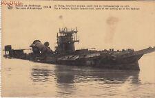 Postcard Ship Ruins Zeebrugge English Torpedo Boat Sunk Bottling Harbor
