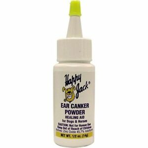 Happy Jack Ear Canker Powder Sores & Rashes Hailing Aid Dogs & Horses .5oz USA