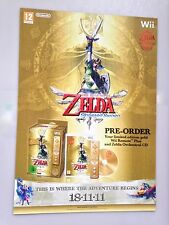 The Legend of Zelda Skyward Sword rare wii 57 cm x 73 cm PROMO POSTER pos