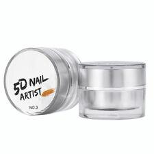 12Colors 3D Nail Art Paint Draw Painting Acrylic Color UV Gel Tip DIY Decoration