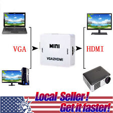 TX VGA Male To HDMI Output HD+Audio Video Cable Converter Adapter For PC DVD st