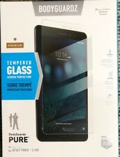 New BodyGuardz PURE Tempered Glass Screen Protector for AT&T TREK 2 HD