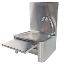Handwaschbecken Edelstahl Gastrobecken Kniebetätigung Waschtisch