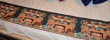 Christmas Fire-place All Trimmed Out Table Top Tapestry Runner