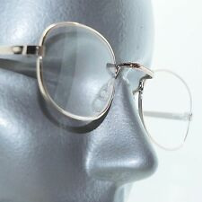 Simple Oval Gold Metal Wire Reading Glasses Frame Lightweight +1.00 Lens