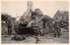 Zerstörte franz. Panzer Char B1 mit Kennung  Arras Frankreich