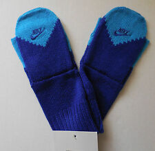 NIKE Knitted Fingerless/Glove/Mittens Adult Unisex S/M Drenched Blue/blue Glow