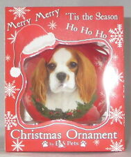 Cavalier King Charles Spaniel Christmas Ornament Shatter Proof Ball Dog Snow Red