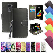 For All LG Phones 2017 PU Leather Book Side Wallet Card Flip Case Cover & Stylus