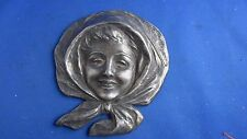 sculpture statue regule VAN DER STRAETEN masque femme epoque 1900 art nouveau