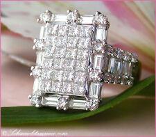 Reinheit VVS Echte Diamanten-Ringe aus Weißgold