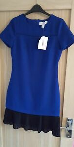 Mother of the Bride Dress Blue Shift Dress PETITE Size 6 SMALL rrp £159 BNWT