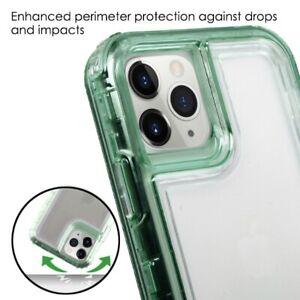 iPhone 11 Pro Max - Hard Hybrid Midnight Green Clear Heavy Duty Full Body Case