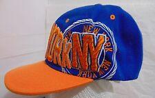 NEW YORK NY Adult One Size Adjustable Hat/Cap Embroidered Snapback Orange/Blue
