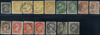 Canada #34 used F/XF 1870-1896 Queen Victoria Small Queen cancels/shades JUMBOS