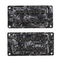 1 Pair Guitar Humbucker Pickups Double Coil Pickup Set Invader Type Black Pearl