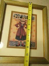 """1989 Mary Engelbreit Snap Out Of It Gold Framed 11 1/4""""x9 1/2"""""""
