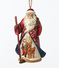 Heartwood Creek Lapland Santa Hanging Ornament by Jim Shore  NEW  27387