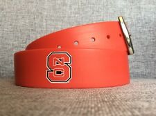 UNISEX NC State Red Silicone Golf Belt NC State University - Wolfpack - Size 32