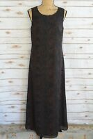 NWT Maggy London - Brown SNAKESKIN print sleeveless CHIFFON sheath dress size 6