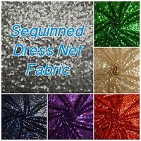 Sequin Sparkle Bling Shine Dance Dress Net Tulle Fabric (Sold per 1/2 M)