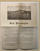 Orig. Prospekt Bad Kissingen um 1880 Kurort Reise Ortskunde Hessen Klima sf