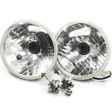 "2 X H4 KLARGLAS SCHEINWERFER 7"" 178mm Jeep Wrangler TÜV HEADLIGHT CLEAR GLASS"