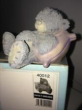 "LARGE 7cm / 3"" LONG BOXED ME TO YOU FIGURINE TATTY TEDDY BEAR ~ SWEET DREAMS"
