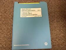 1993 1994 Volkswagen VW Golf GTI Jetta Cabrio 2.0L Fuel Injection Repair Manual