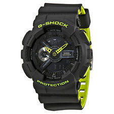 Casio G-Shock Black Dial Mens Neon Sports Watch GA110LN-8A