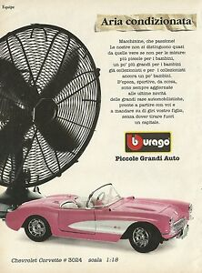 X1267 Chevrolet Corvette - Bburago - Advertising 1996