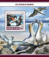 Niger - 2017 Seabirds on Stamps - Stamp Souvenir Sheet - NIG17325b