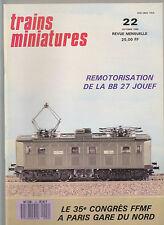 TRAINS MINIATURE N°22 CARAVELLES X 4300/4500 / BB 27 / TGV ATLANTIQUE / AUTORAIL