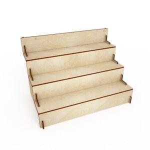 Espositore scaletta in legno  incastro 4mm 50*31*35