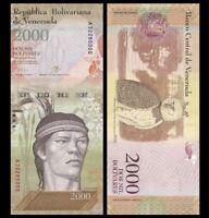 VENEZUELA 2000 (2,000) Bolivares, 2007-17, P-96, Guaicaupuro, UNC World Currency