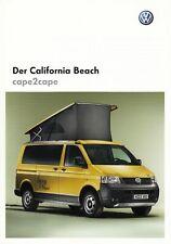 Furgoneta VW california beach Cape 2 Cape Caravan camping folleto brochure Sheet a
