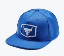 Project Rock Cap Brahma Bull Strength Flat Brim Hat Adj. Blue 1347417