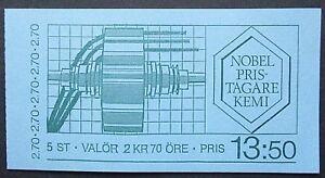 Sweden 1983 Nobel Prize Winners For Chemistry Booklet. MNH.