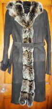 £1200 K Yen Full-Length Genuine Rabbit and Fox Fur Coat Size Large