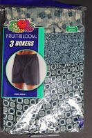 """3 Pack Fruit of the Loom Men""""s Full Boxers Shorts Size Small 30-32  in PLAIDS 1"""