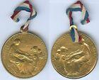 Insigne de journées 1914/1918 - Journée secours national métal rond doré 1915