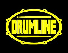 DRUMLINE VINYL DECAL YELLOW 4X7 MUSIC DRUM CYMBALS PERCUSSION MARCHING BAND