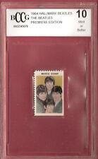 BEATLES 1964 STAMP RELIC GRADED BECKETT BCCG 10 FAB 4 MEMORABILIA JOHN LENNON