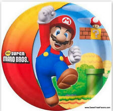 MARIO BROS Plates LUNCH Birthday Decoration Game Party Supplies Luigi Nintendo