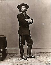 Civil War General George Armstrong Custer by Brady Hats and Boots Full Length