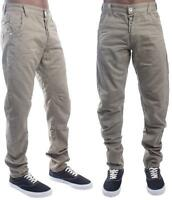 ETO 9901 Mens Chino Trouser Twisted Leg Regular Fit Smart Casual Jeans Pants