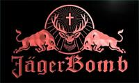 Jagermeister Jager Bomb Bull LED Neon Light Sign Bar Club Pub Advertise Decor