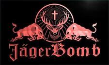 Jagermeister Jager Bomb Bull LED Neon Light Sign Bar Club Pub Advertise Decor