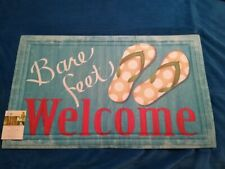 Bare Feet Welcome Sandal Door Mat 18 X 30